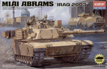 "ACADEMY 1/35 M1A1 ABRAMS ""IRAQ 2003"" PLASTIC MODEL KIT *AUS DECALS*(13202)"