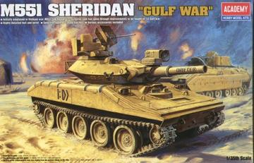 "ACADEMY  1/35 M551 SHERIDAN ""GULF WAR"" PLASTIC MODEL KIT(13208)"