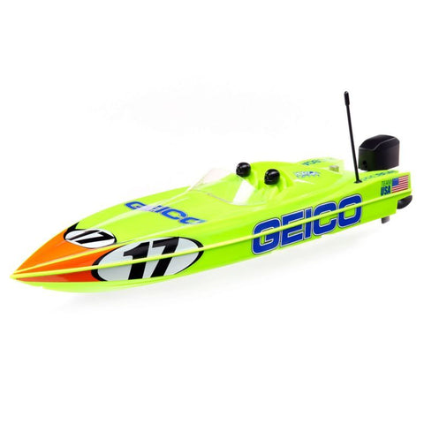 Pro Boat 17-inch Power Boat Racer Deep-V, Miss GEICO , RTR