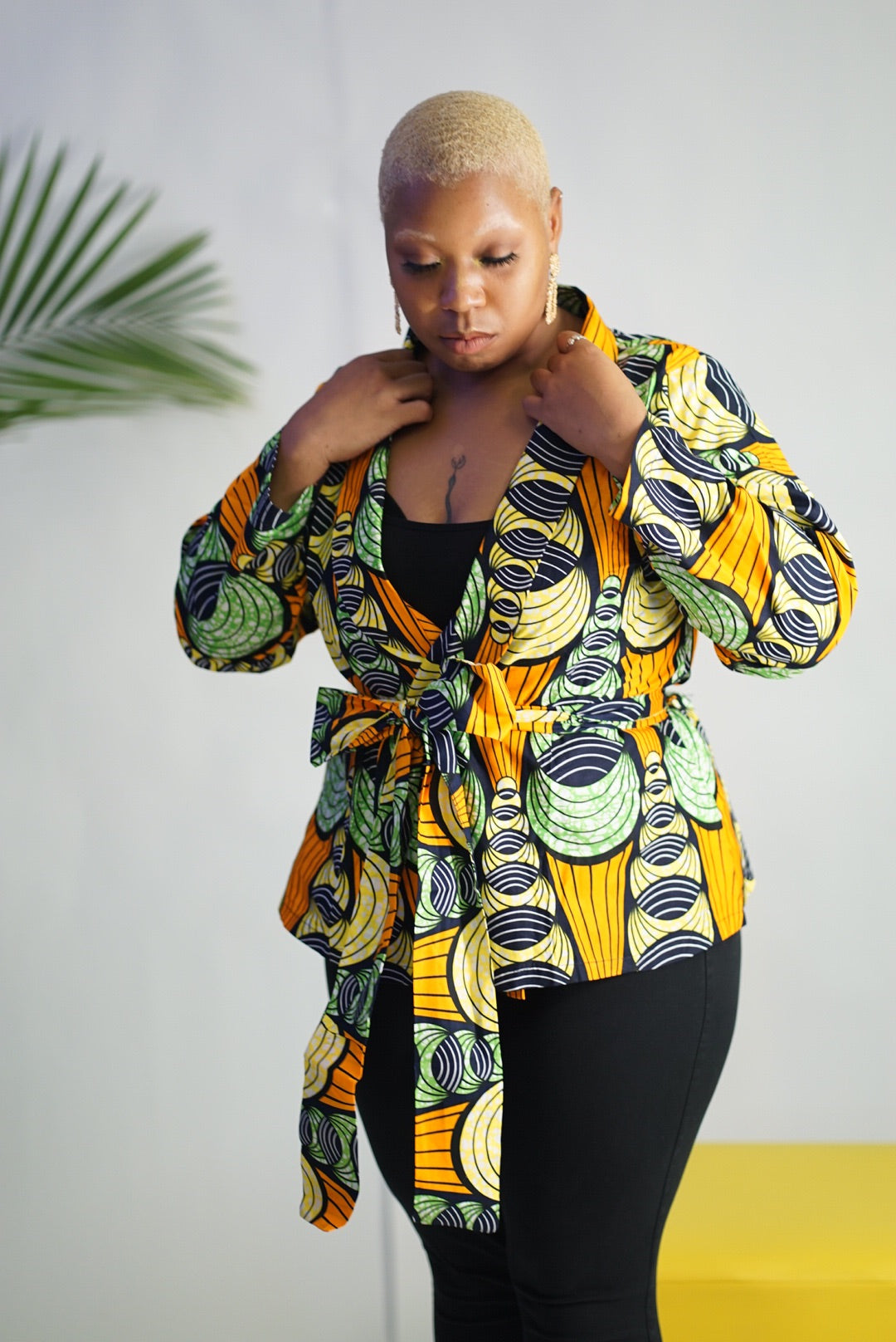 Oma wrap jacket top