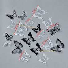 Load image into Gallery viewer, 18pcs/lot 3d Effect Crystal Butterflies Wall Stickers for Kids Room Wall Decals Home Decoration - boo.bootik