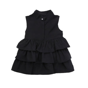 Newborn Kid Baby Girls Party Dress Sleeveless O Neck Ruffled Bubble Dresses Summer 1-6T Children Girl Clothes - boo.bootik