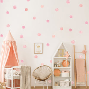 36pcs/set Watercolor Dots Wall Sticker Removable Kids Room Bedroom Creative Decals DIY Vinyl Nursery Office Beautify Decor - boo.bootik