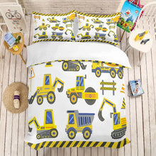 Load image into Gallery viewer, 3D print Bedding set,Construction vehicle. kids' gift, Duvet cover set Home Textiles super king/king/queen/twin/full - boo.bootik
