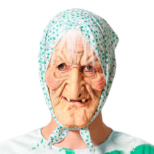 Mask Halloween Old woman Latex