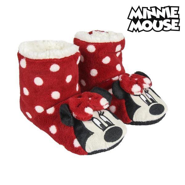 House Slippers Minnie Mouse Red