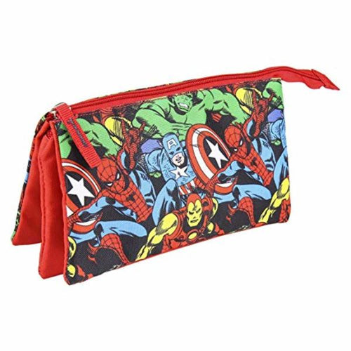 School Case The Avengers Red