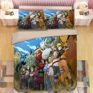 Anime 3D Naruto Print Bedding Set Duvet Covers Pillowcases One Piece Comforter Bedding Sets Bedclothes Bed Linen 06 1 - boo.bootik