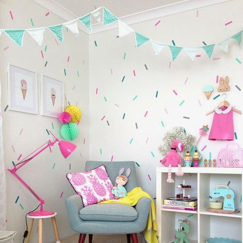 Baby Girl Room Sprinkles Wall Stickers Kid Decal Art for Nursery - boo.bootik