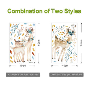Bedroom wall decor Deer wall stickers for kids rooms - boo.bootik