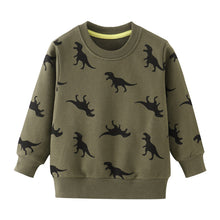 Load image into Gallery viewer, Boys T Shirts Autumn Long Sleeve Tops Kids Dinosaur Appliques Cotton Sweatshirt Children Boys Shirts Clothing Boys Clothes - boo.bootik