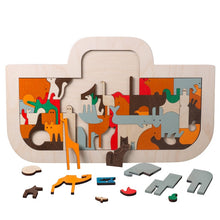 Load image into Gallery viewer, Children Wooden Toys Noah's Ark Puzzle Art Gift for Kids - boo.bootik