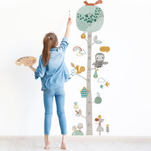 Load image into Gallery viewer, Cute Forest Tree Height Chart Measure Wall Sticker Decal For Kids Room - boo.bootik