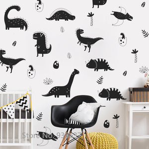 Dinosaur Wall Decals Sticker Boys Nursery Decor Vinyl Removable DIY Wall  Stickers Bedroom Self Adhesive Art Mural Sticker