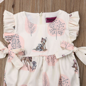 Fashion 2019 Baby Girl summer clothing cute Deer Flower cotton soft Romper Jumpsuit for newborn infant clothes children kid - boo.bootik