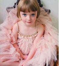 Load image into Gallery viewer, Luxury baby girls feather black tutu dress children girls beading swan prom dress summer fashion kids costume - boo.bootik