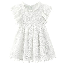 Load image into Gallery viewer, Kids Girl Ball Gown Dress NEW White Toddler Girl Summer Lace Dress 2 3 4 5 6 7 8 Year Princess Birthday Party Dress Children Clothing - boo.bootik