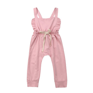 Newborn Baby Clothes Backless Striped Ruffle Romper Overalls Jumpsuit Clothes Baby Girl Clothes Baby Girl Romper Infant Clothing - boo.bootik