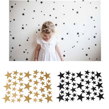 Load image into Gallery viewer, Stars Pattern Vinyl Wall Art Decals Nursery Room Removable Decoration Wall Stickers for Kids Rooms Home Decor - boo.bootik