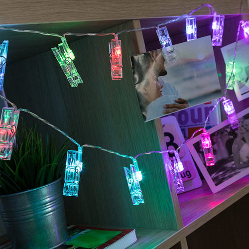 LED Photo Clip Garland (16 LED)