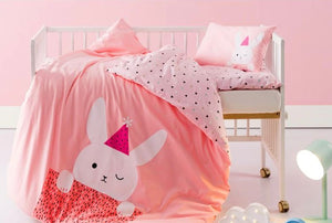 3pcs cotton crib cartoon bedding set for newborn & toddlers - boo.bootik