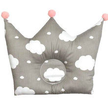 Load image into Gallery viewer, Baby crown shaped pillow prevents flat head for infants bedding nursery & kids room - boo.bootik