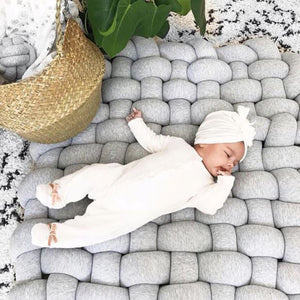 Baby woven giant knit infant play mat play room carpet for kids rooms - boo.bootik