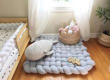 Load image into Gallery viewer, Baby woven giant knit infant play mat play room carpet for kids rooms - boo.bootik