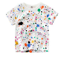 Load image into Gallery viewer, Children's unisex graffiti summer T-shirt paint splash - boo.bootik