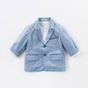 Tailored Boy Baby Toddler Outerwear Jacket in Blue - boo.bootik