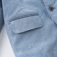 Load image into Gallery viewer, Tailored Boy Baby Toddler Outerwear Jacket in Blue - boo.bootik