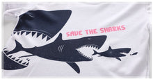 Load image into Gallery viewer, Boys White Shark Summer Short Sleeve T-shirt - boo.bootik