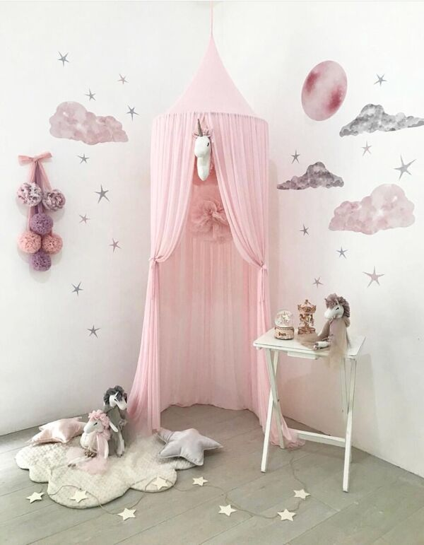 Princess Canopy Mosquito Net Curtain Girls Babies Toddlers Kids Room Decor - boo.bootik