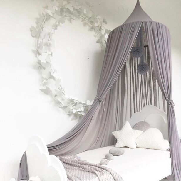 Princess Canopy Mosquito Net Curtain Girls Babies Toddlers Kids Room Decor