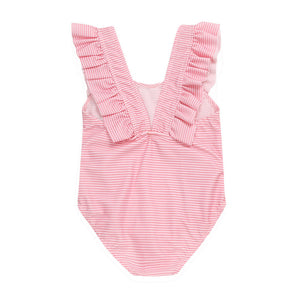 Baby Girl Toddler One Piece Stripy with Ruffles Swimsuit - boo.bootik