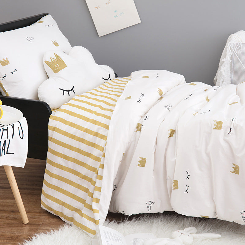 Crown Eyelash Princess Single Bed Bedding Set Duvet Sheet Pillow Amazing Load Pillow Covers