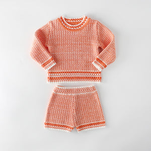 Baby  Boy | Girl Knitted Top & Bottom Set - boo.bootik
