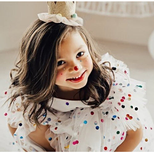 Confetti Party Wedding Birthday Evening Prom Dress for Girls - boo.bootik