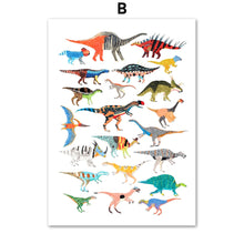 Load image into Gallery viewer, Dinosaur Wall Art Canvas Painting Posters & Prints for Kids - boo.bootik