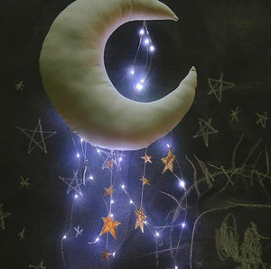 Baby Mobile Moon and Stars Soft Toys Nursery Kids Room Decor - boo.bootik