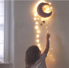 Load image into Gallery viewer, Baby Mobile Moon and Stars Soft Toys Nursery Kids Room Decor - boo.bootik