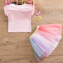 Load image into Gallery viewer, Unicorn Tulle and Shirt Matching Set for Girls - boo.bootik