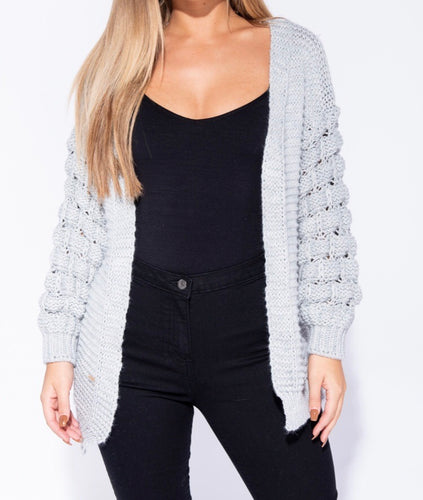 KOURTNEY Basket Weave Cardigan