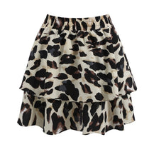 Load image into Gallery viewer, Lucy Two Tier Leopard Print Skirt