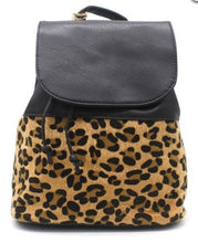 Load image into Gallery viewer, Leopard Print Backpack