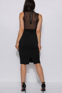 Riah Embroidered Mesh Bodycon Dress