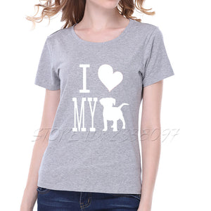 I LOVE MY DOG!  Graphic tee that gives a shout out to Dog Lovers - lovethepup