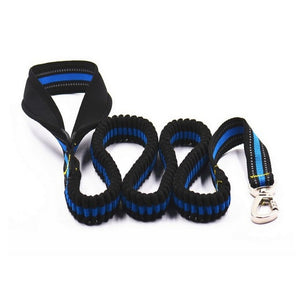 Bungee Reflective Training Dog Leash With Large Grip control Handle - lovethepup