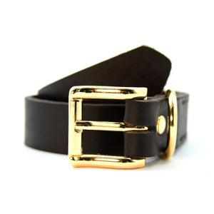 Luxury Real Leather Dog Collar Top Grade Gold Alloy Buckle Brown Leather Pet Collars for Small Medium Large Dogs New Pet Product - lovethepup