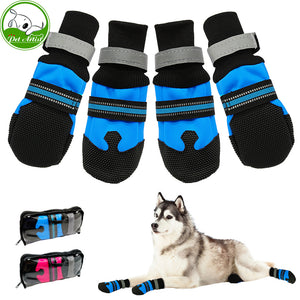 Dog Shoes Waterproof and Anti-slip Snow Pet Boots Paw Protector Warm Reflective For Medium Large Dogs Labrador Husky - lovethepup